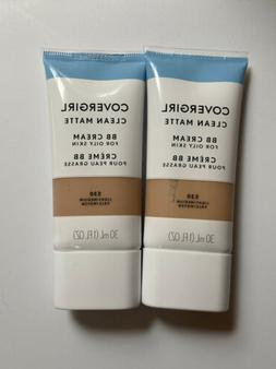 Lot Of 2 COVERGIRL Clean Matte BB Cream For Oily Skin, 530 L