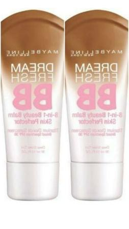Lot of 2 Maybelline Makeup Dream Fresh BB Cream Deep Sheer T