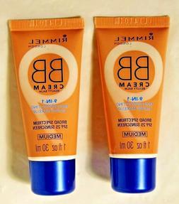 LOT OF 2 Rimmel BB Cream 9-In-1 Skin Perfecting Super Makeup