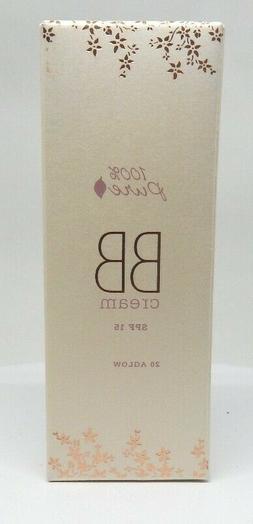 NEW 100% Pure Natural Vegan BB Cream Spf15 20 AGLOW 1fl.oz F