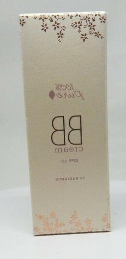 NEW 100% Pure Natural Vegan BB Cream Spf15 30 RADIANCE 1fl.o