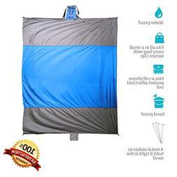 Beach Buddha Sand Free Blanket - Large 9 x 7 ft Waterproof P