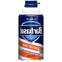 Barbasol Sensitive Skin Thick and Rich Shaving Cream, 10 Oun