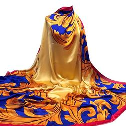 AutumnFall 140x140CM Square Women's Printing Hijab Scarves L