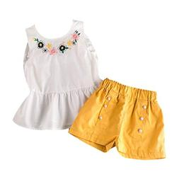 Toddler Baby Girls 2Pcs Clothes Sets for 24 Months-7T Cleara
