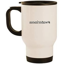 #wateriness - Stainless Steel 14oz Road Ready Travel Mug, Wh